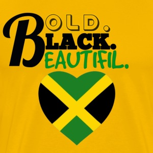 BOLD BLACK BEAUTIFUL JAMAICA - Men's Premium T-Shirt