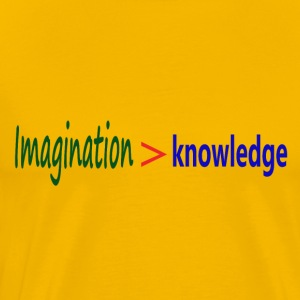 Imagination > knowledge - Albert Einstein Quote - Men's Premium T-Shirt