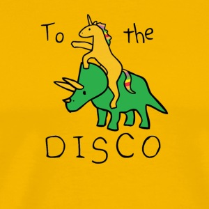To The Disco Unicorn Riding Triceratops - Men's Premium T-Shirt