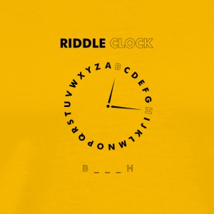 Bitch Riddle Clock - Men's Premium T-Shirt