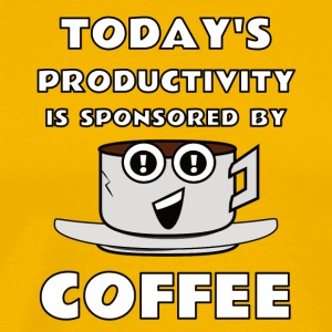todays productivity is sponsored by coffee - Men's Premium T-Shirt