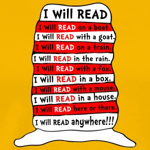 I WILL READ ANYWHERE KIDS - Men's Premium T-Shirt