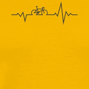 Bicycle. Roadbike. Heartbeat. - Men's Premium T-Shirt