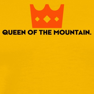 Queen of the Mountain. QOM. Woman. Girls - Men's Premium T-Shirt