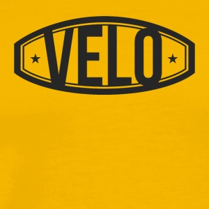 Velo. Roadbike. Biking. Cyclist. Logo. Emblem. - Men's Premium T-Shirt
