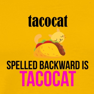Tacocat spelled backward - Men's Premium T-Shirt