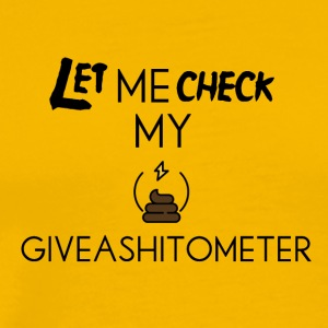 Giveashitometer - Men's Premium T-Shirt