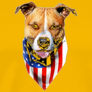 Patriotic Pitbull Shirt for Women or Men Pitbull M - Men's Premium T-Shirt