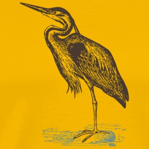 Heron bird wildlife vector image cartoon awesome - Men's Premium T-Shirt