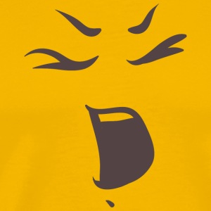 Shouting face - Emotional faces - Men's Premium T-Shirt