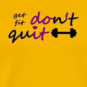 Dont Quit get fit printfile front - Men's Premium T-Shirt