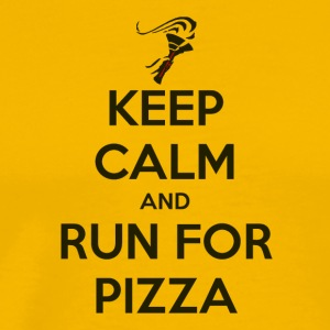 keep Calm Pizza Run - Men's Premium T-Shirt