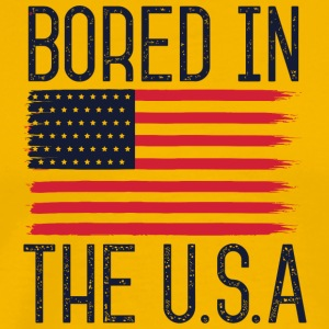 American - Bored In The USA - Men's Premium T-Shirt