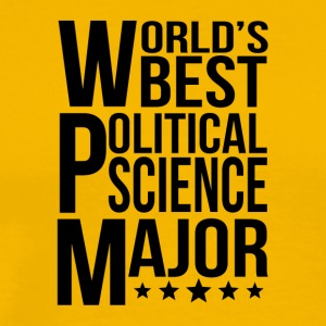 World's Best Political Science Major - Men's Premium T-Shirt