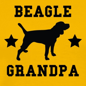 Beagle Grandpa - Men's Premium T-Shirt