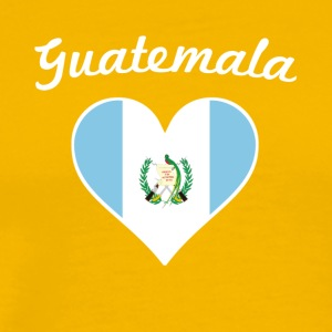 Guatemala Flag Heart - Men's Premium T-Shirt