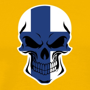 Finnish Flag Skull - Men's Premium T-Shirt