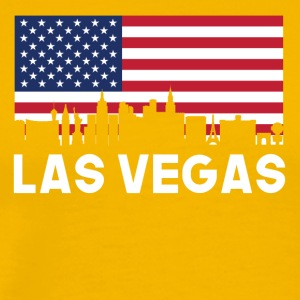 Las Vegas NV American Flag Skyline - Men's Premium T-Shirt