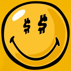 SmileyWorld Dollar Eyes Smiley - Men's Premium T-Shirt