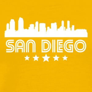 Retro San Diego Skyline - Men's Premium T-Shirt