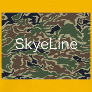 SkyeLine Green Camo and White Box Logo - Men's Premium T-Shirt