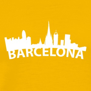Arc Skyline Of Barcelona Spain - Men's Premium T-Shirt