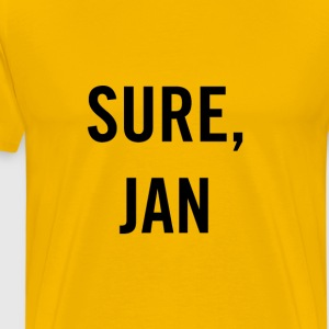 Sure Jan Black - Men's Premium T-Shirt