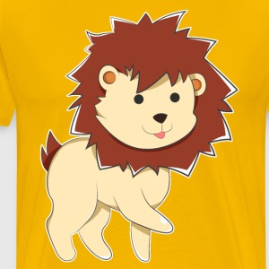 Happy Cartoon Baby Lion - Men's Premium T-Shirt