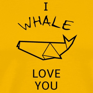 Funny and sweet WHALE Pun T-shirt design - Men's Premium T-Shirt