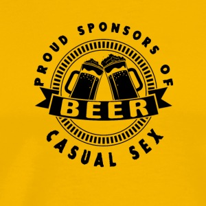 beer Beer proud sponsors of casual sex - Men's Premium T-Shirt