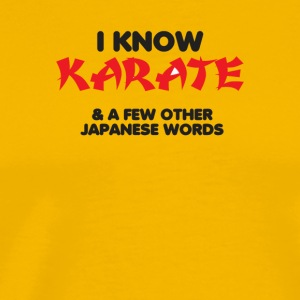 I Know Karate - Men's Premium T-Shirt