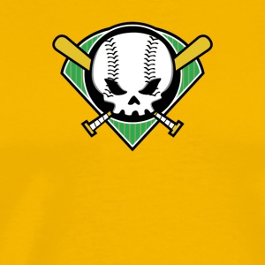 Skull Baseball - Men's Premium T-Shirt