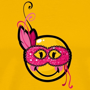 SmileyWorld Smiley with Burlesque Mask - Men's Premium T-Shirt
