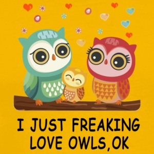 owl love SHIRT - Men's Premium T-Shirt