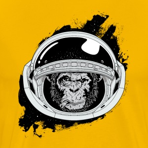 Space monkey Black and white Art