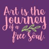Art is the Journey of the Free Soul - Men's Premium T-Shirt