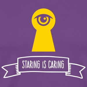 Staring Is Love! - Men's Premium T-Shirt