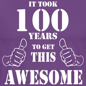 100th Birthday Get Awesome T Shirt Made in 1917 - Men's Premium T-Shirt