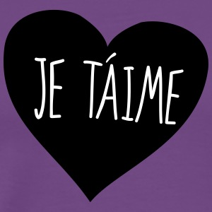 Je taime heart - Men's Premium T-Shirt