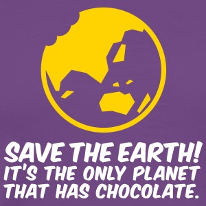 Save The Earth!The Only Planet That Has Chocolate - Men's Premium T-Shirt