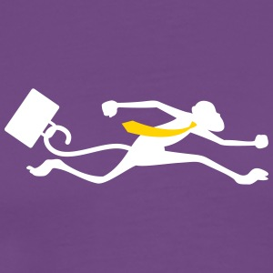 A Monkey Runs With A Suitcase - Men's Premium T-Shirt