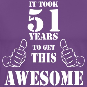 51st Birthday Get Awesome T Shirt Made in 1966 - Men's Premium T-Shirt