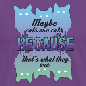 Maybe Cats Are Cats Because... - Men's Premium T-Shirt