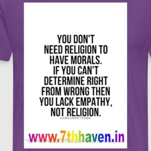 Empathy good bad T shirt Religion - Men's Premium T-Shirt