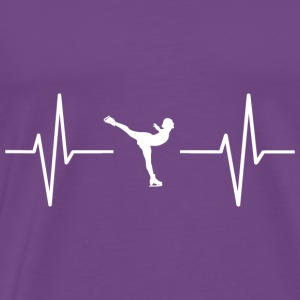 My heart beats for ice skating! gift - Men's Premium T-Shirt