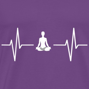 My heart beats for yoga! gift - Men's Premium T-Shirt