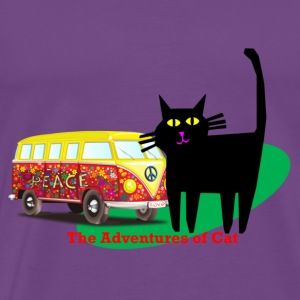 Cat Remembers Wilder Days - Men's Premium T-Shirt