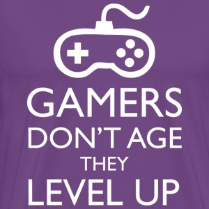 Gamers Don t Age They Level Up T Shirt - Men's Premium T-Shirt