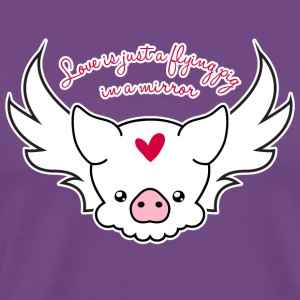 Love Is A Flying Pig - Men's Premium T-Shirt