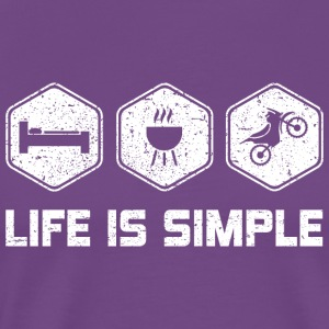 LIFE IS SIMPLE - MOTORCROSS SHIRT FOR WOMEN | MEN - Men's Premium T-Shirt